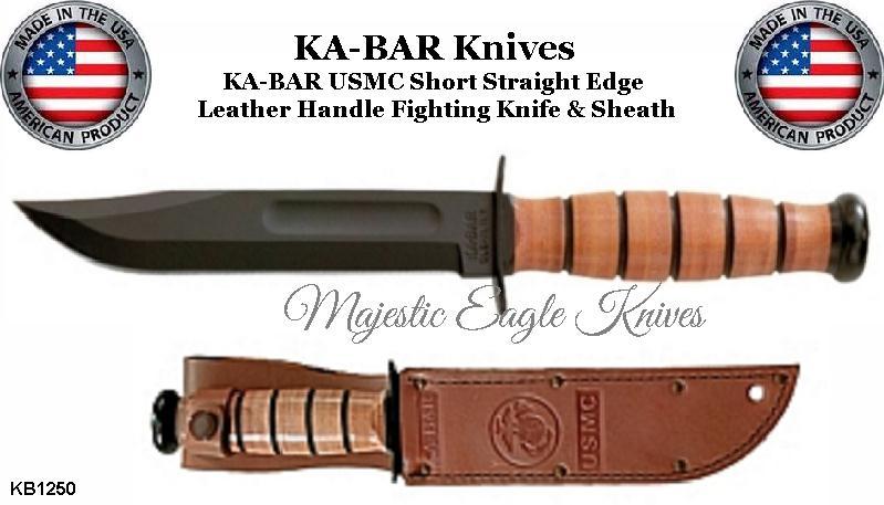 Ka Bar Knives Kb1250 Usmc Straight Edge Fighting Combat
